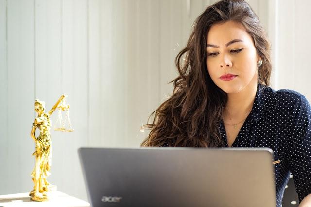 Lawyer On Laptop